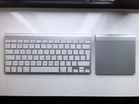 Apple Keyboard and Apple Trackpad with 4 AA batteries