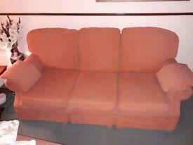 Terracotta Sofa good condition