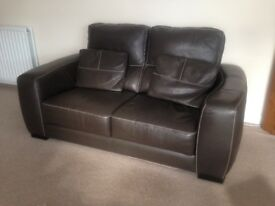 Immaculate - Andersons of Inverurie Granfort Italian Brown Leather Suite and Stool