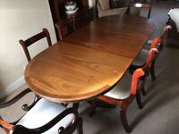 Mahogany Regency Style Dining Table And Six Chairs