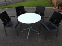 Stylish Chairs and Table Set - ideal for kitchen or office