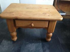Solid Pine Occasional Table with drawer