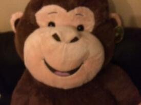 Hugfun plush sitting monkey