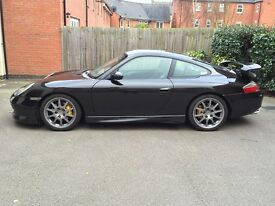PORSCHE 911 IN BLACK , FACTORY FIT GT3 KIT, WITH ANY AA/RAC INSPECTION WELCOMED, A1 CONDITION