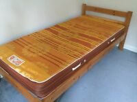 Single Pine bed with Slumberland Posture Spring mattress