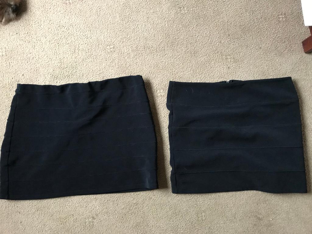 2 black skirts