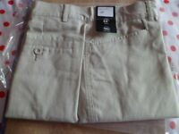 mens dress shorts size 34 waist beige brand new