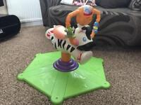 Fisher Price Zebra bounce n spin