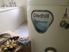 Gledhill Stainless Light. 90ltr unvented direct hot water cylinder.