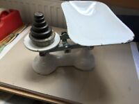 Retro Kitchen Scales and Imperial Weights