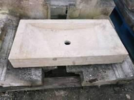 Travertine Sink 30in x 15.5in x 4in