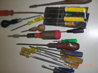 Collection of hand screwdrivers
