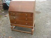 1950s Oak Writing Bureau