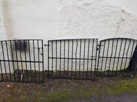 iron gates and railings