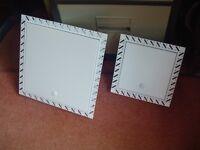 2 unused boxed access panels