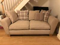 3 piece suite - 3 seater sofa 2 seater sofa & large foot stool