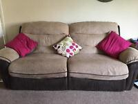 Lovely DFS electric recliner sofa and armchair