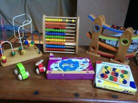Wooden baby / toddler toys