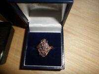 9ct gold tanzanite ring size m/n