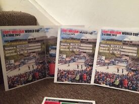 4 tickets for the mountain bike World Cup in fort william 2-4 June 2017