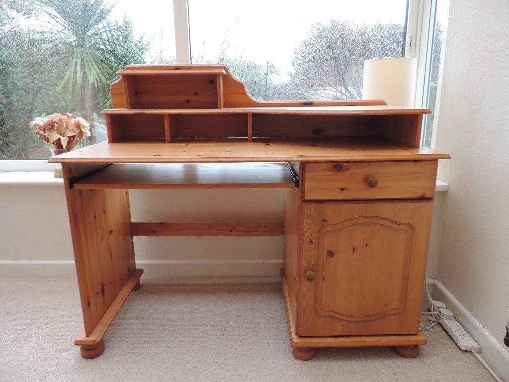Antique Pine computer desk in very good condition - Antique Pine Computer Desk In Very Good Condition In Taunton