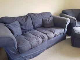 FREE Sofa, chair & pouffe