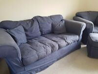 FREE Sofa, chair & pouffe