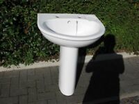 Pedestal sink and Close coupled Toilet