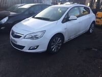 VAUXHALL ASTRA J, 1.3 CDTI ECO-FLEX, 2011 (61 PLATE), 5 SPEED, BREAKING FOR SPARES