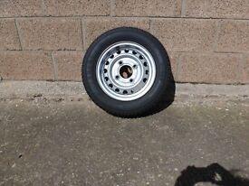 Brand new wheel for ERDE 213 trailer.