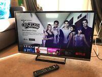 "Panasonic 32"" full HD Smart LED TV MINT with Netflix built in"