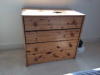 Pine stained chest of drawers 2 available