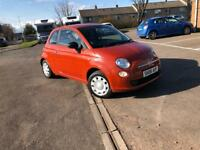 STUNNING FIAT 500 1.2 PETROL- FSH- LOW MIL. 53K- COMES WITH 1 YEAR MOT + 3 MONTHS WARRANTY + SERVICE