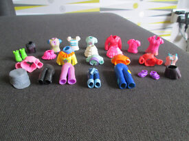 POLLY POCKET CLOTHES - TOPS/SKIRTS/TROUSERS - 25 ITEMS - ALL IN GC