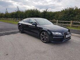 Audi A7 black s line sportback, full audi service history. 20inch alloys.