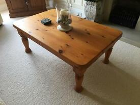 Solid Pine Coffee Table Excellent Condition