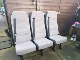 Van bench seat double/single w/belts Scot seats
