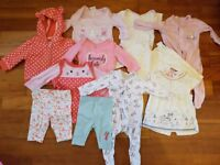 Newborn and up to one month baby clothes bundle