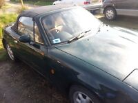Mazda MX5. Spares or Repair. One too many projects.