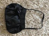Small black evening bag