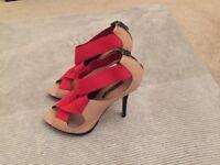 Zara high heels shoes size 5