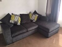 DFS Navy Left Corner Sofa - Excellent Condition