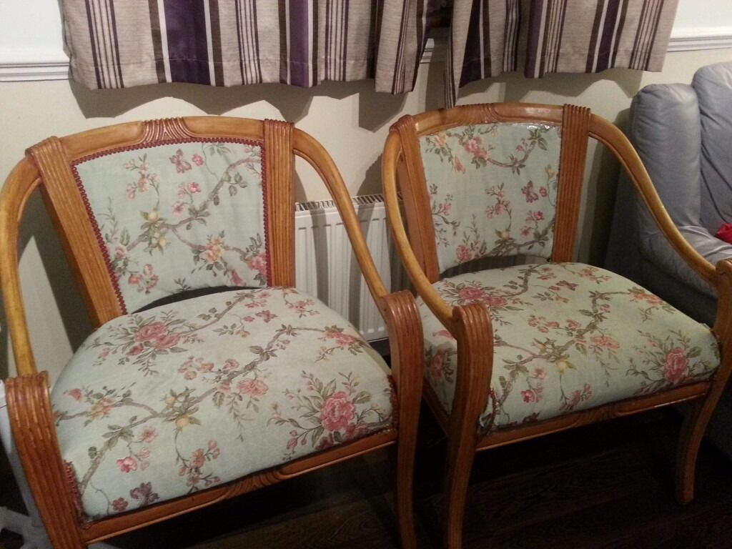 2 Beautiful Armchairs - House Clearance - Pet & Smoke Free bungalow.