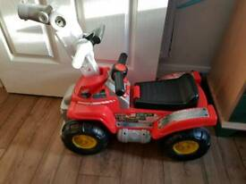 Kids ride on and lawnmower
