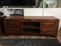 Harvey's Furniture TV Cabinet Unit solid wood