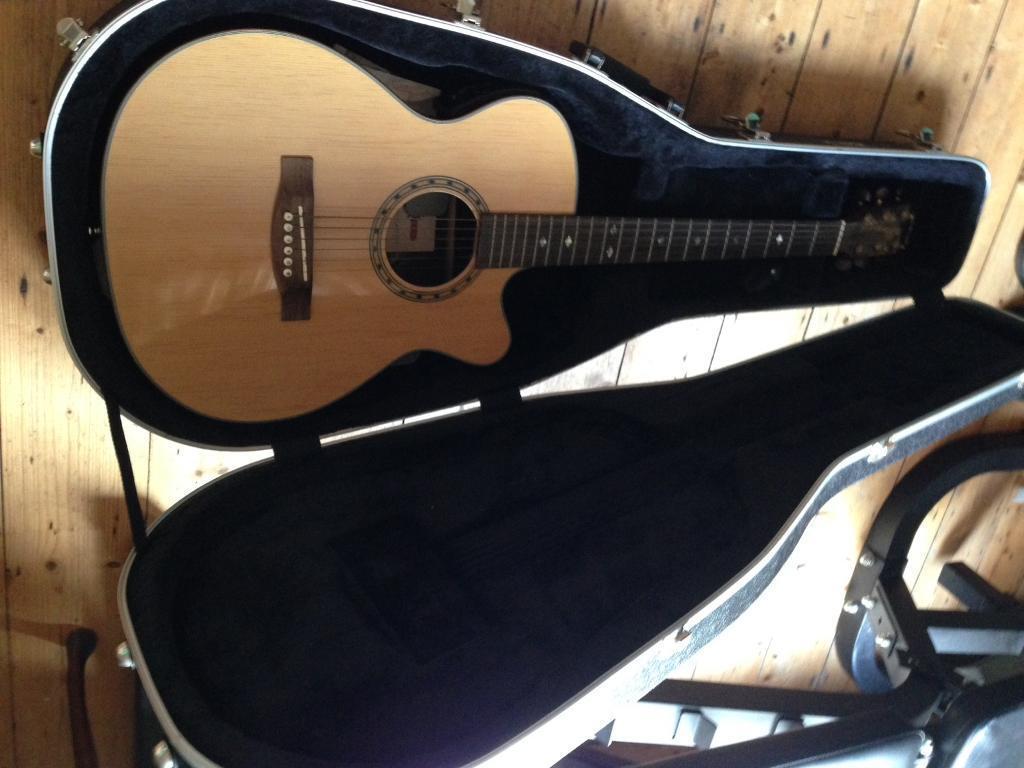 Semi Acoustic guitar, capo, picks and TGI hardcase
