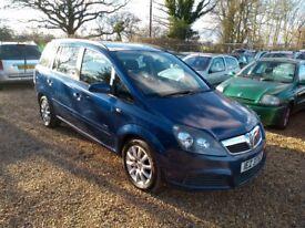 2006 Vauxhall Zafira 1.6 5 Months MOT 2 Former Keepers 2 Keys Cheap Car