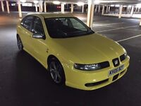 2005 05 SEAT LEON TDI FR 150 - FULL COMPREHENSIVE HISTORY - HPI CLEAR - YELLOW - 2 KEYS