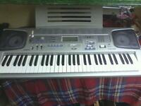 Keyboard. 3 step lesson with stand