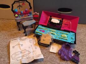 Monster High Create A Monster Design Lab, EUC, plus dressing table & DVD